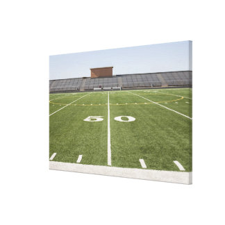 Football field and stadium canvas print