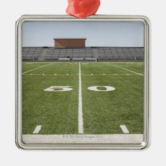 Football field and stadium metal ornament