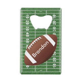 Football Field Design Bottle Opener Credit Card Bottle Opener