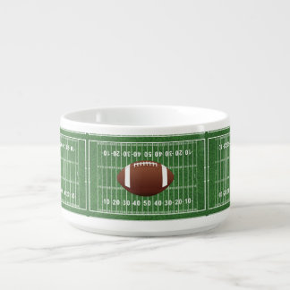 Football Field Design Chili Soup Bowl