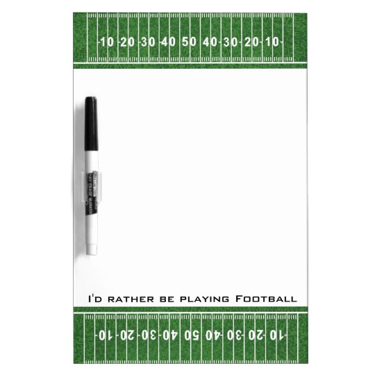 Football Field Design Dry Erase Board