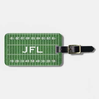 Football Field Design Luggage Tags