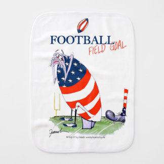 Football field goal, tony fernandes baby burp cloths