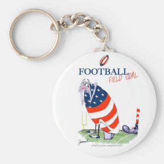 Football field goal, tony fernandes keychain