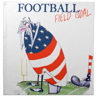 Football field goal, tony fernandes napkin