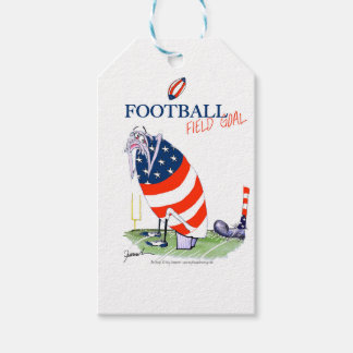 Football field goal, tony fernandes pack of gift tags