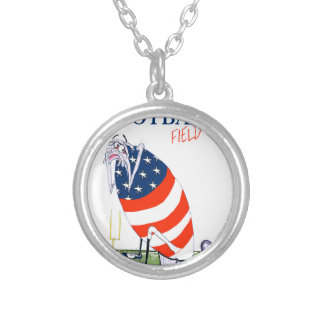 Football field goal, tony fernandes silver plated necklace