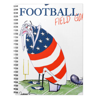 Football field goal, tony fernandes spiral notebook