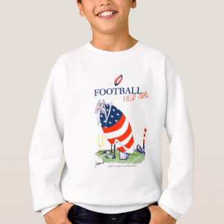 Football field goal, tony fernandes sweatshirt