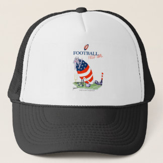Football field goal, tony fernandes trucker hat