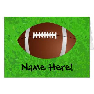 Football Field Junior Varsity Card