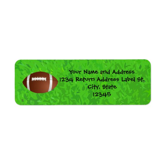 Football Field Junior Varsity Return Address Label