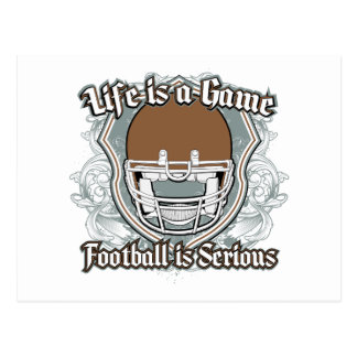 Football Game Brown Postcard