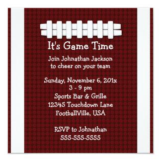 Football Game Time Invitation