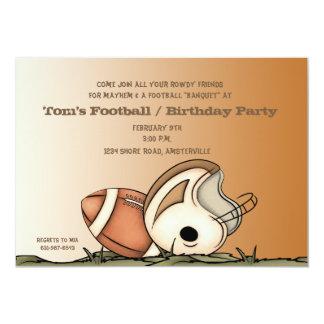 "Football Gear - Party Invitation 5"" X 7"" Invitation Card"