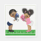 Football Gender Reveal Baby Shower Paper Napkin