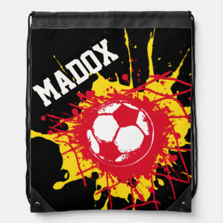 Football goal personalized soccer gym bag