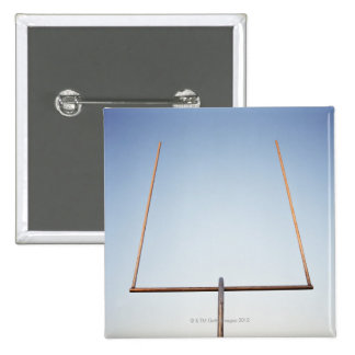 Football goal post 2 inch square button