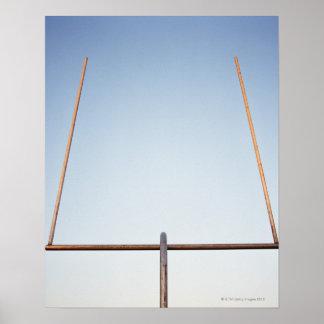 Football goal post poster
