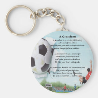 Football   Grandson Poem Keychain