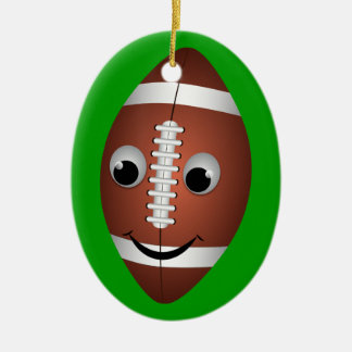 Football Graphic Character Ceramic Ornament