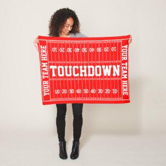 Football Gridiron Your Text and Color Fleece Blanket