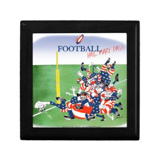 Football hail mary pass, tony fernandes gift box