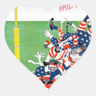 Football hail mary pass, tony fernandes heart sticker