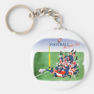 Football 'hail mary pass', tony fernandes keychain