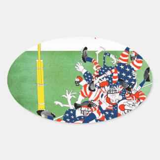 Football 'hail mary pass', tony fernandes oval sticker
