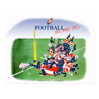 Football hail mary pass, tony fernandes postcard