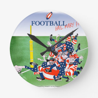 Football hail mary pass, tony fernandes round clock