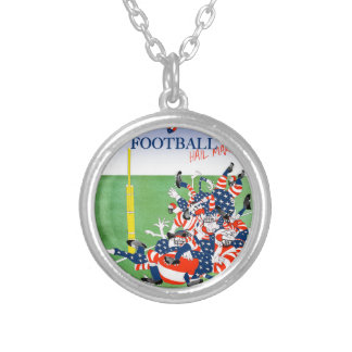Football hail mary pass, tony fernandes silver plated necklace