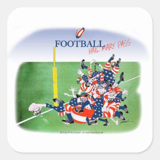 Football 'hail mary pass', tony fernandes square sticker