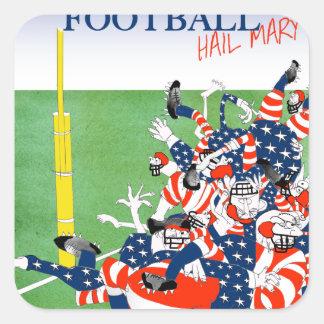 Football hail mary pass, tony fernandes square sticker