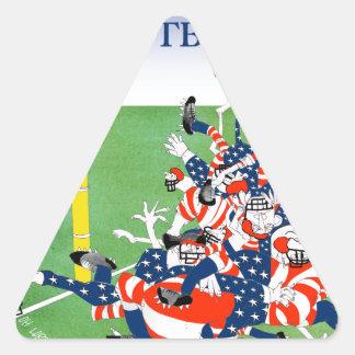 Football 'hail mary pass', tony fernandes triangle sticker