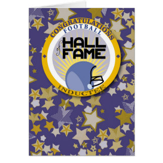 Football - Hall of Fame Inductee Congrats Card