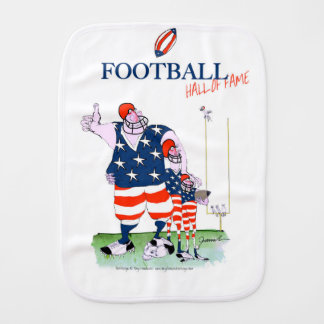 Football hall of fame, tony fernandes burp cloth
