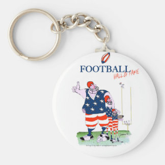 Football hall of fame, tony fernandes keychain