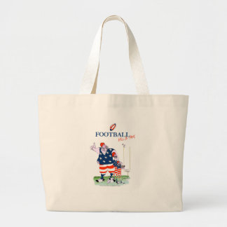 Football hall of fame, tony fernandes large tote bag