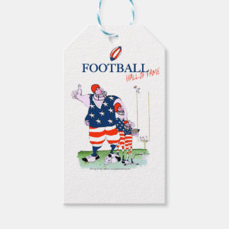 Football hall of fame, tony fernandes pack of gift tags