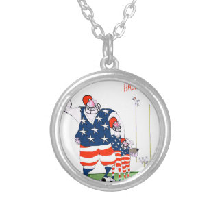 Football hall of fame, tony fernandes silver plated necklace
