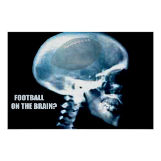 Football Head (x-ray) Poster