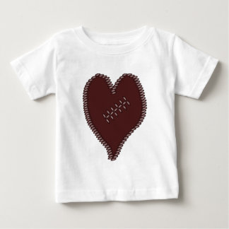 Football Heart Baby T-Shirt