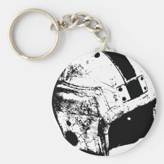 football-helmet basic round button keychain