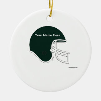 Football Helmet - Black Ceramic Ornament