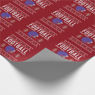Football Helmet Ugly Christmas Sweater Wrapping Paper