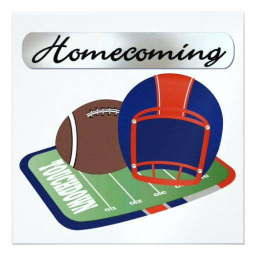 Football Homecoming by SRF Personalized Announcement