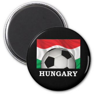 Football Hungary 2 Inch Round Magnet