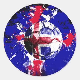 football Iceland Round Sticker